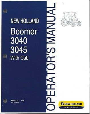 New Holland Boomer 3040 3045 Compact Tractor Operator Manual 87477123