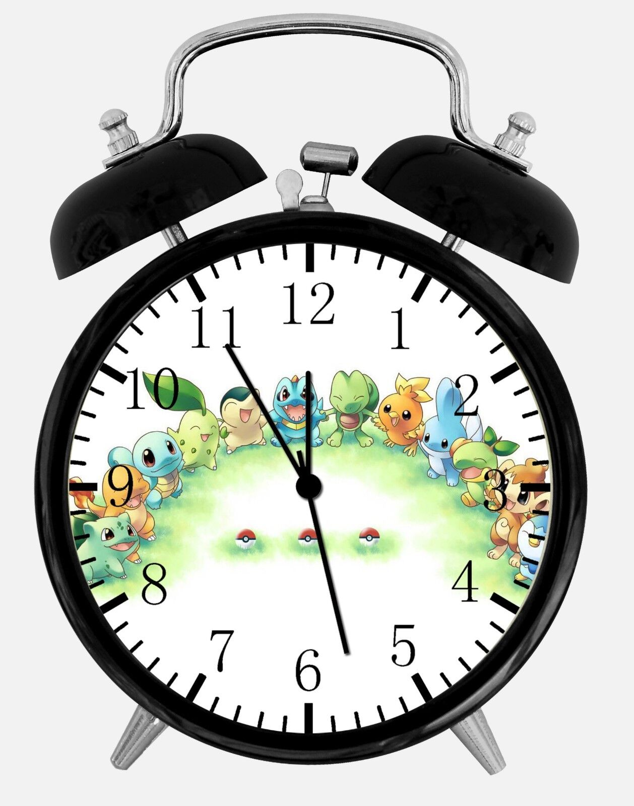 "Cute Pokemon Alarm Desk Clock 3.75"" Home or Office Decor F05 Nice For Gift"