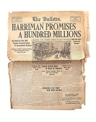 May 3 1906 The Bulletin Newspaper for San Francisco Earthquake Fire Aftermath #6