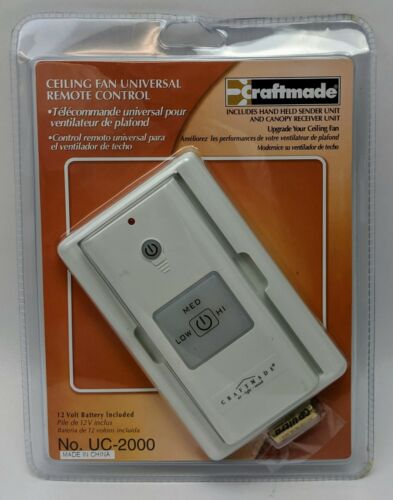 Craftmade UC-2000 Universal Remote Control with Receiver and