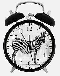 Zebra Alarm Desk Clock 3.75 Home or Office Decor Y92 Nice For Gift