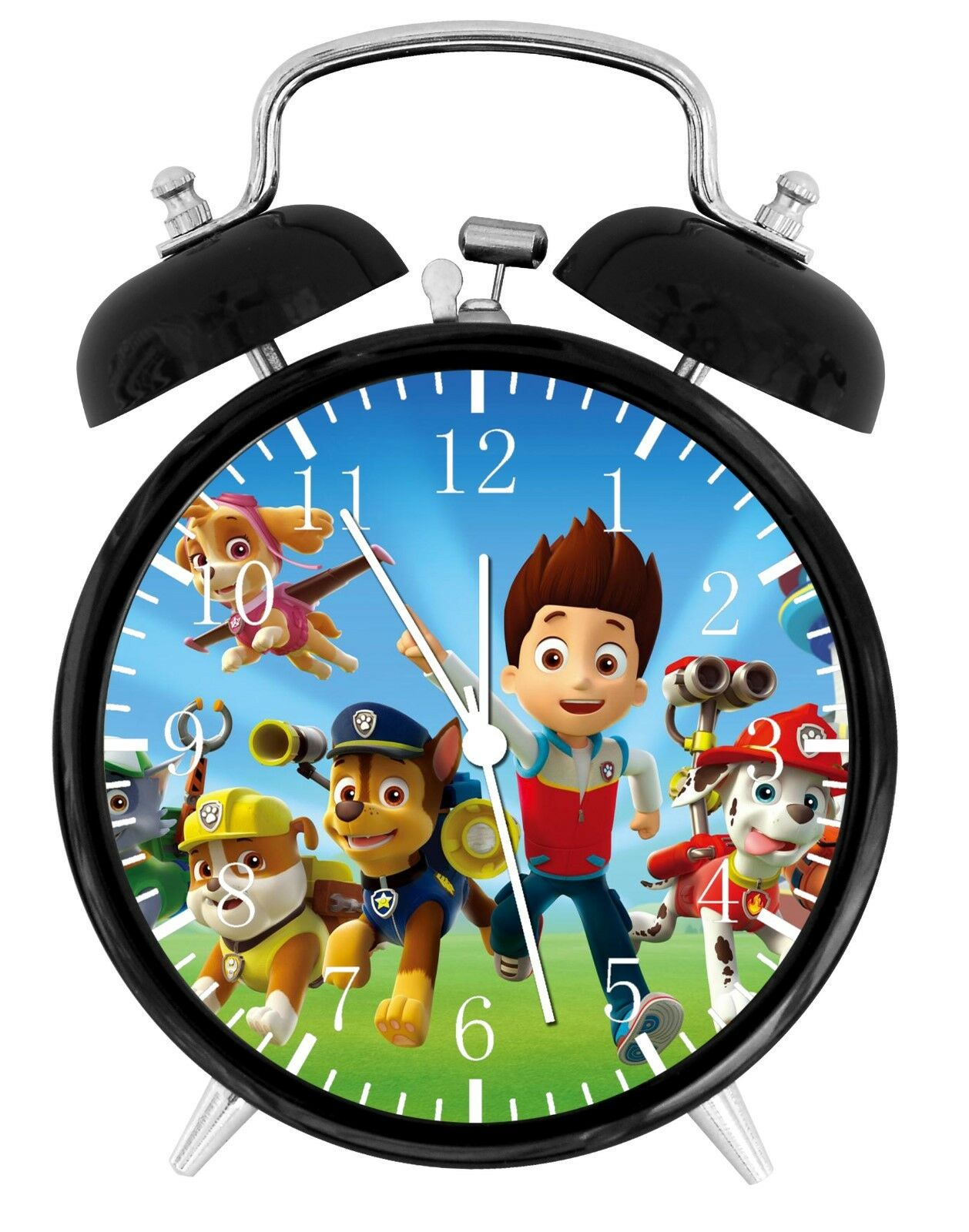 "Paw Patrol Alarm Desk Clock 3.75"" Room Office Decor E45 A Nice Gift"