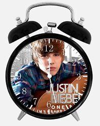 Justin Bieber Alarm Desk Clock 3.75 Home or Office Decor Z115 Nice For Gift