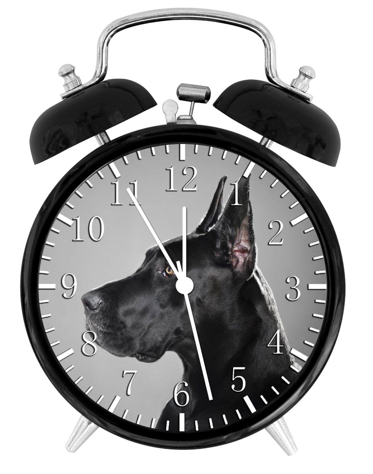 Great Dane Alarm Desk Clock Home or Office Decor F90 Nice Gift