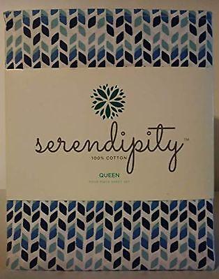 Four Sheets (Serendipity Four Piece Queen Sheet Set, Chevron )