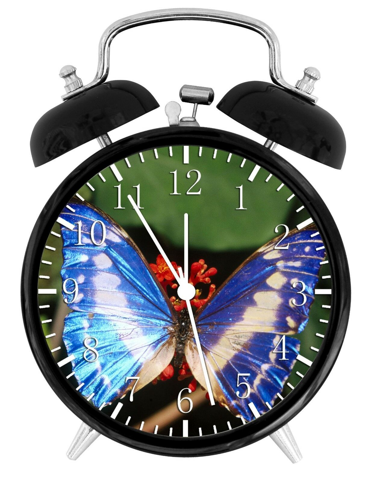 "Beautiful Butterfly Alarm Desk Clock 3.75"" Room Office Decor W260 Nice For Gift"