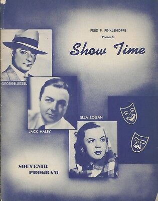 "Ella Logan ""SHOW TIME"" George Jessel / Jack Haley / Paul Sydell 1943 Program"