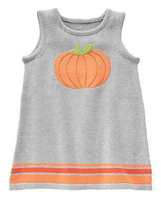 NWT Gymboree Happy Harvest Pumpkin Halloween Sweater Jumper Dress Toddler Girl - Halloween Toddlers
