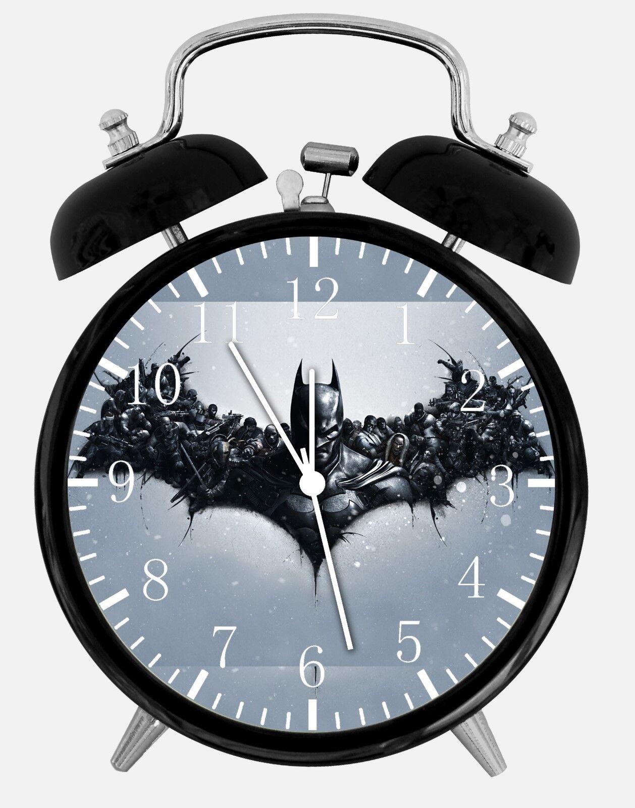 "Batman Alarm Desk Clock 3.75"" Room Office Decor E58 A Nice Gift"