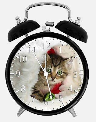 Süß Kätzchen Katze Alarm Schreibtisch Uhr 9.5cm Heim oder Büro Dekor W334 Schön (Kätzchen Wecker)
