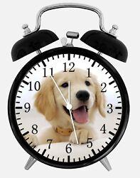 Cute Golden Retriever Alarm Desk Clock 3.75 Home or Office Decor Z109 Nice Gift