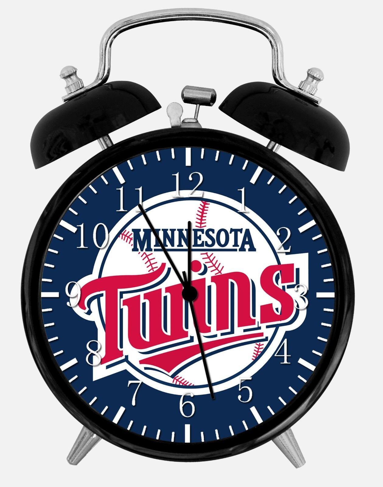 "Minnesota Twins Alarm Desk Clock 3.75"" Home or Office Decor E286 Nice For Gift"