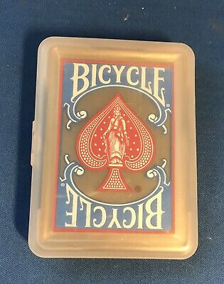 Vintage Bicycle Clear Plastic Poker Playing Cards New In Plastic Box Bicycle Clear Plastic Poker