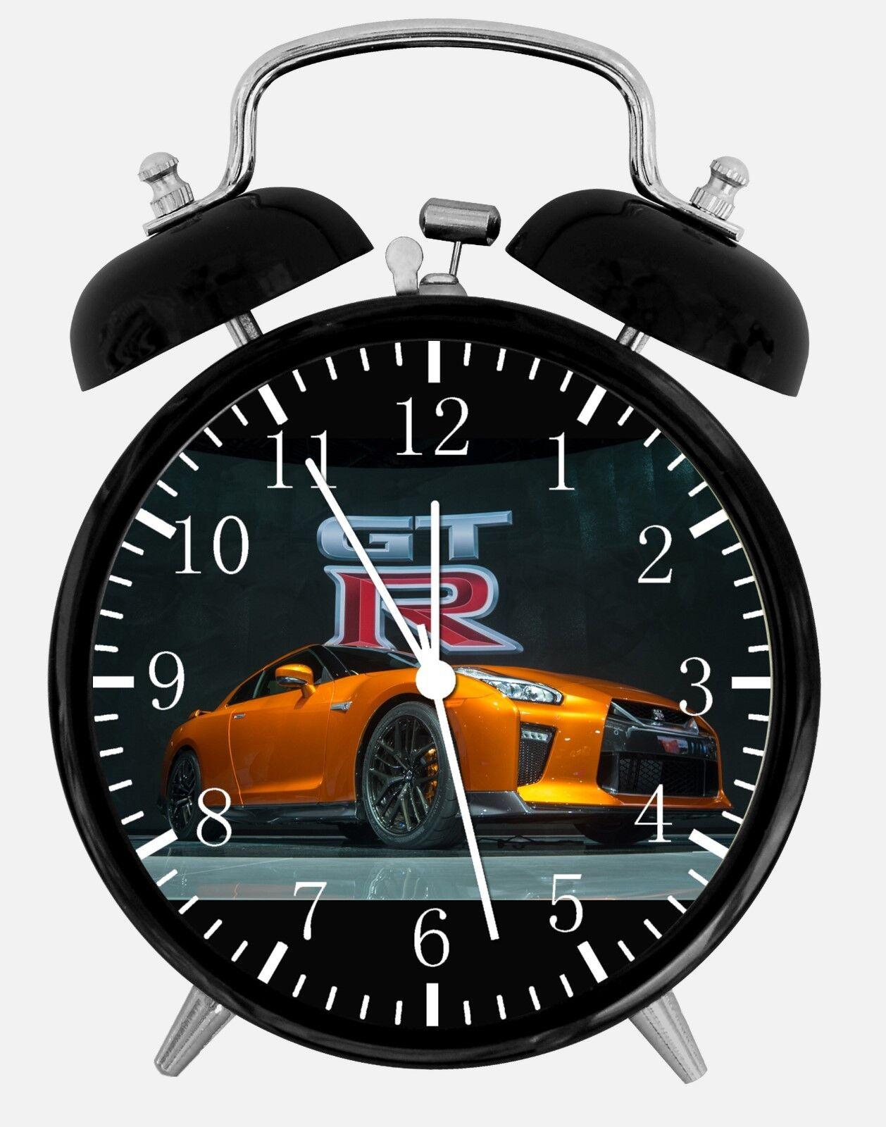 """Nissan GTR Alarm Desk Clock 3.75"""" Home or Office Decor E290 Nice For Gift"""