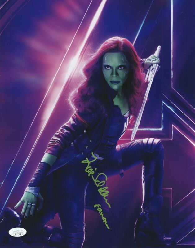 Zoe Saldana Autograph 11x14 Photo Guardians of the Galaxy Gamora Signed JSA COA