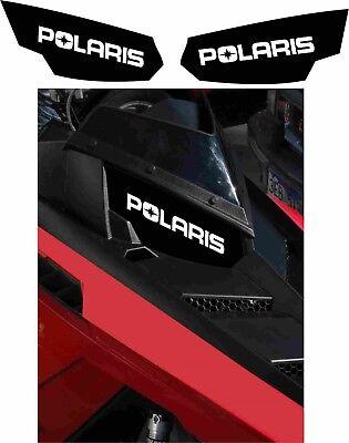 POLARIS RUSH PRO RMK 600 800 INDY ASSAULT 155 163 HEADLIGHT  DECAL STICKER black