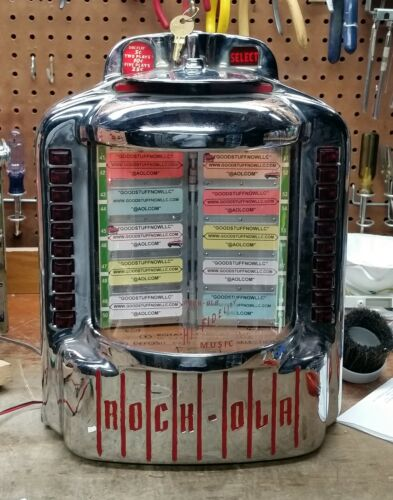 ROCKOLA WALLBOX JUKEBOX MODEL 1546 - RESTORED - STOCK #5201 FIREBALL COMET
