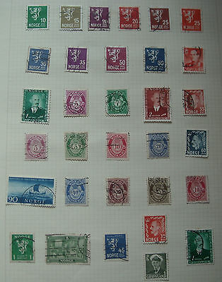 Norway Stamps - 32, most pre Second World War.