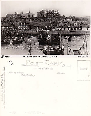 1960's St ANDREWS WTA GUEST HOUSE FOLKESTONE KENT REAL PHOTOGRAPH POSTCARD (a)