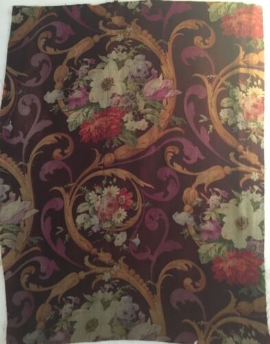 Beautiful 19th C. French Napolean III Wool Challis Fabric  (2523)