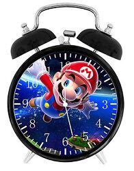 Super Mario Alarm Desk Clock 3.75 Room Decor W04 Nice for Gifts Wake Up