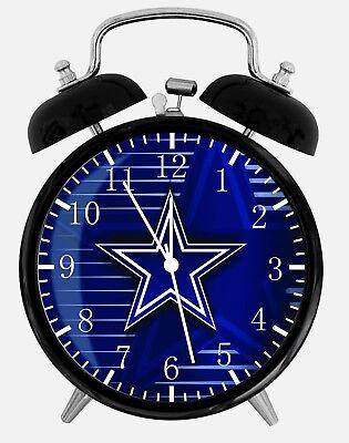 Dallas Cowboys Alarm Schreibtisch Uhr 9.5cm Heim oder Büro Dekor Z16 Schön ()