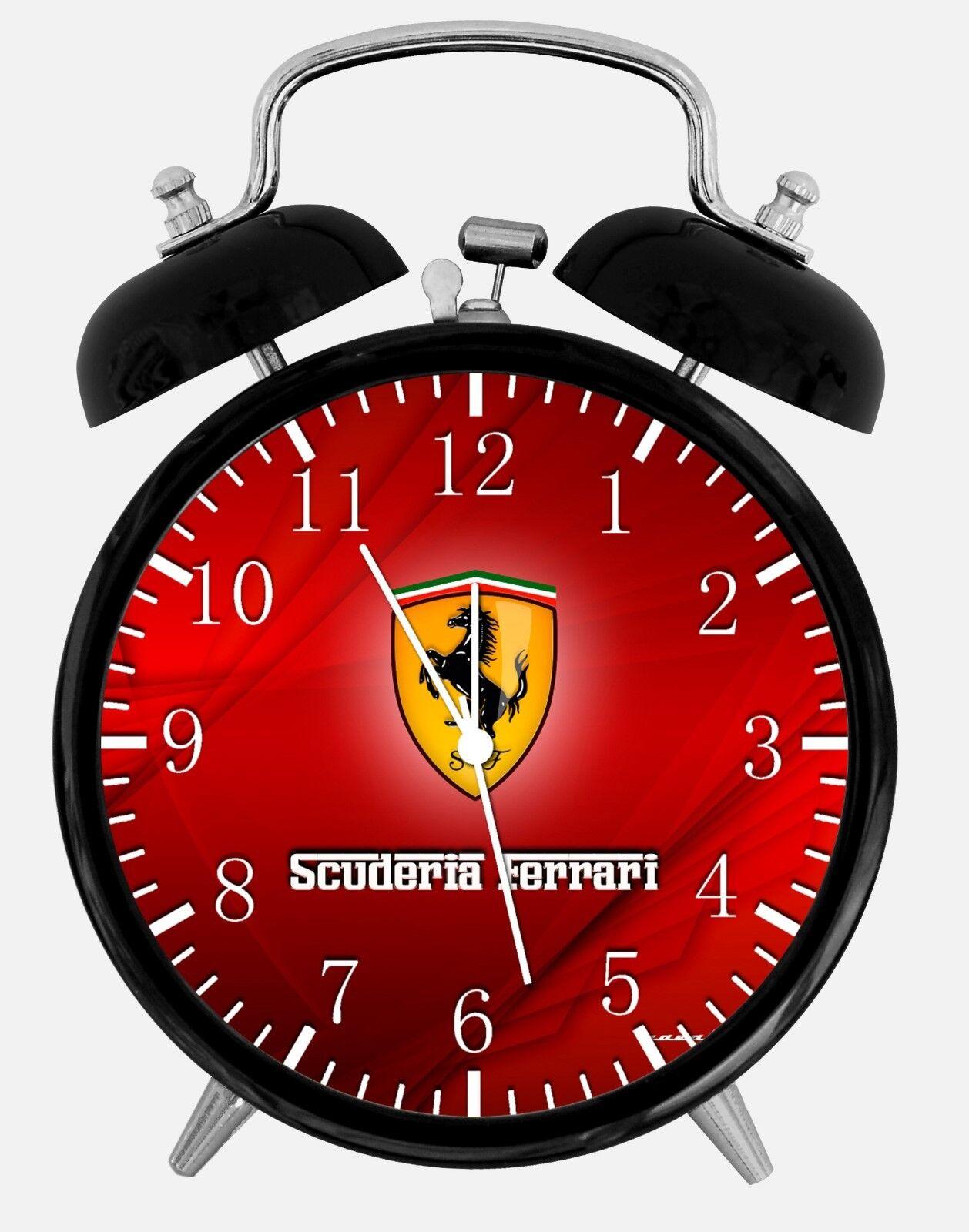 "Super Car Alarm Desk Clock 3.75"" Home or Office Decor W241 Nice For Gift"