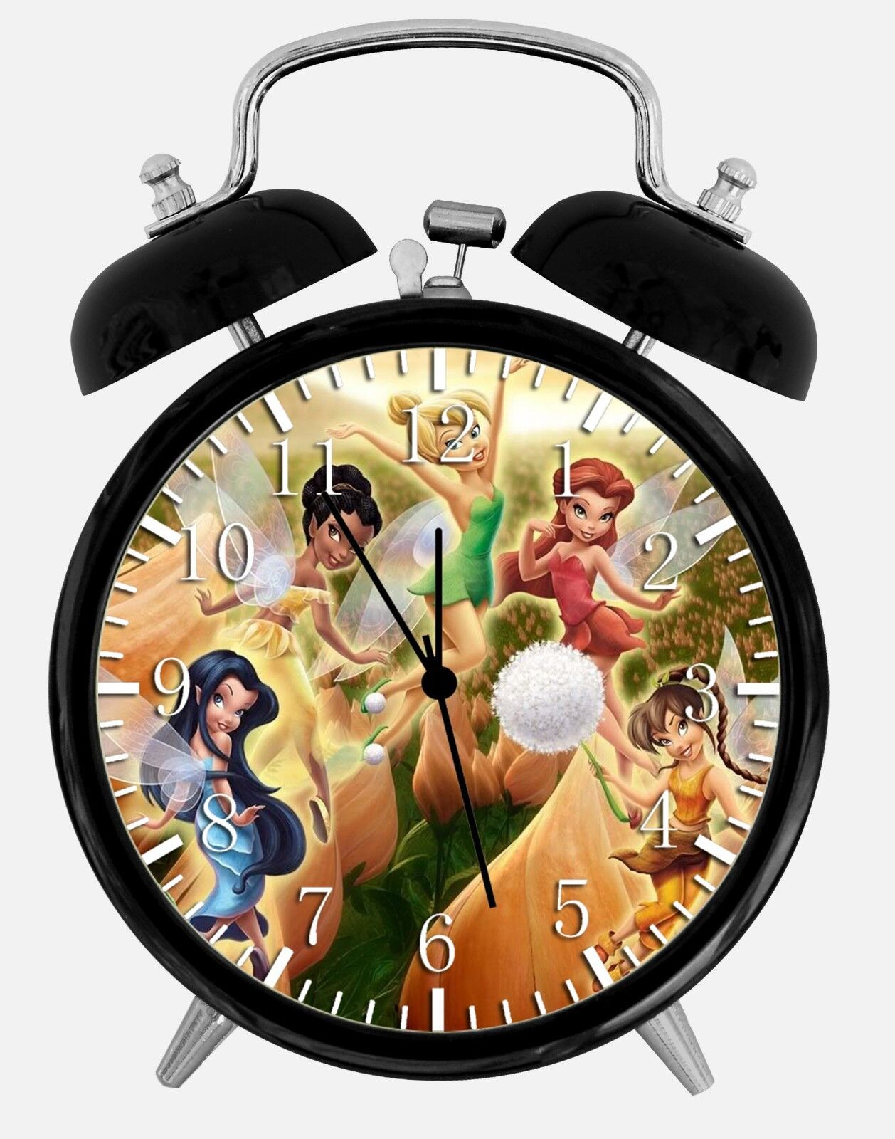 """Tinker Bell Alarm Desk Clock 3.75"""" Room Office Decor W02 Will Be a Nice Gift"""