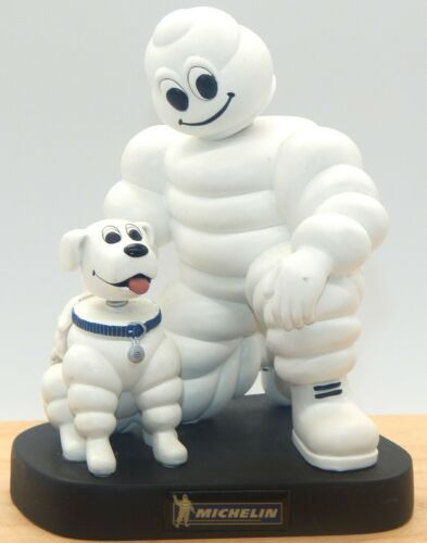 "Michelin Man & Dog 7"" Bobblehead Desktop Promotional Tire Piece"