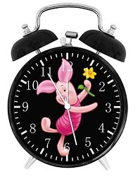 Piglet Winnie Alarm Desk Clock 3.75 Home or Office Decor E198 Nice For Gift