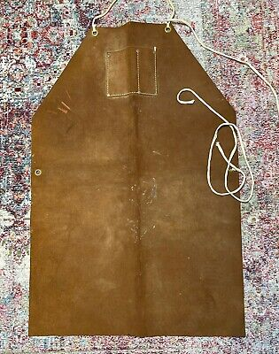 Fuax Split Leather Shop Suede Apron Wood Work Carpenter Blacksmith Metal Shop