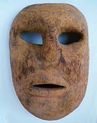 "Vintage Primitive Ceremonial Mask...Oaxaca, Mexico...12"" x 8"""