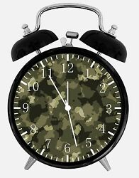 Military Camouflage Alarm Desk Clock 3.75 Home or Office Decor W269 Nice Gift