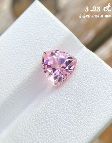 Triangle cut 3.23 ct IF ClarityBeautiful baby Pink Color Natural Tourmaline