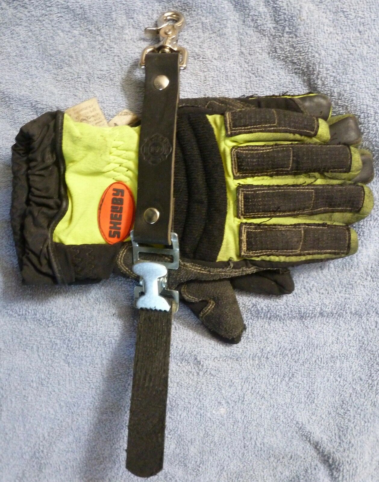 Firefighter Leather Glove Strap
