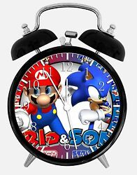 Super Mario Sonic Alarm Desk Clock 3.75 Home or Office Decor W53 Nice For Gift