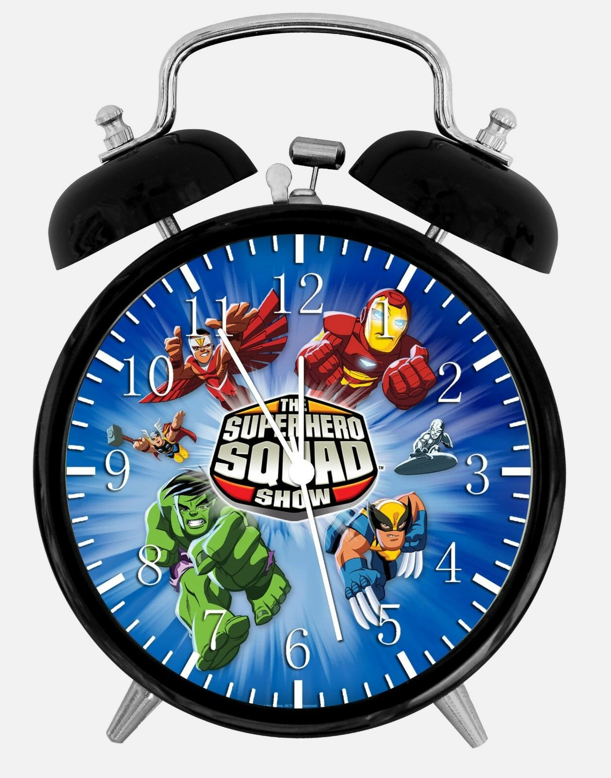 "Super Hero Squad Alarm Desk Clock 3.75"" Room Office Decor W257 Nice For Gift"