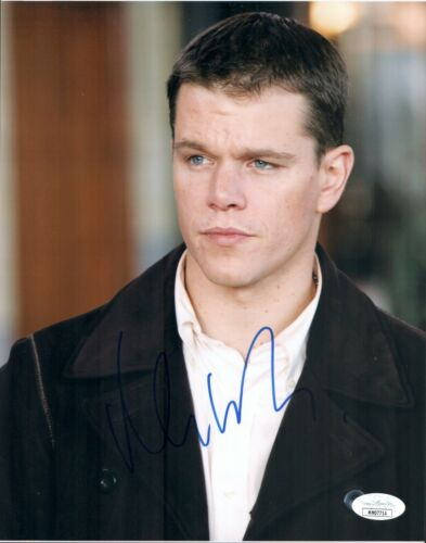 MATT DAMON Signed JASON BOURNE 8x10 Photo Autograph JSA COA