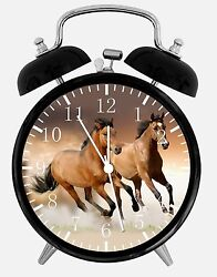 Horse in Water Alarm Desk Clock 3.75 Home or Office Decor E356 Nice Gift