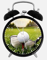 Golf Alarm Desk Clock 3.75 Home or Office Decor E407 Nice For Gift