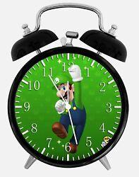 Luigi Super Mario Alarm Desk Clock 3.75 Home or Office Decor Z81 Nice For Gift