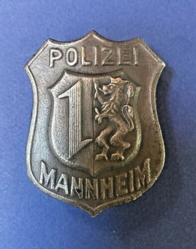 Obsolete German Police Badge Mannheim
