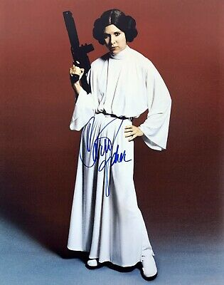 Carrie Fisher (Star Wars), Autograph Hand Signed A4 Photo.