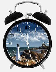 Lighthouse Alarm Desk Clock 3.75 Home or Office Decor E370 Nice For Gift