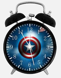 Captain America Alarm Desk Clock 3.75 Home or Office Decor W428 Nice For Gift