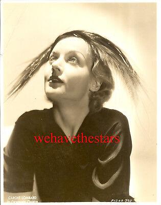 Vintage Carole Lombard GORGEOUS GLAMOUR HAT FASHION 30s Publicity Portrait