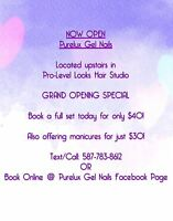 Purelux Gel Nails NOW OPEN! Located in MORINVILLE