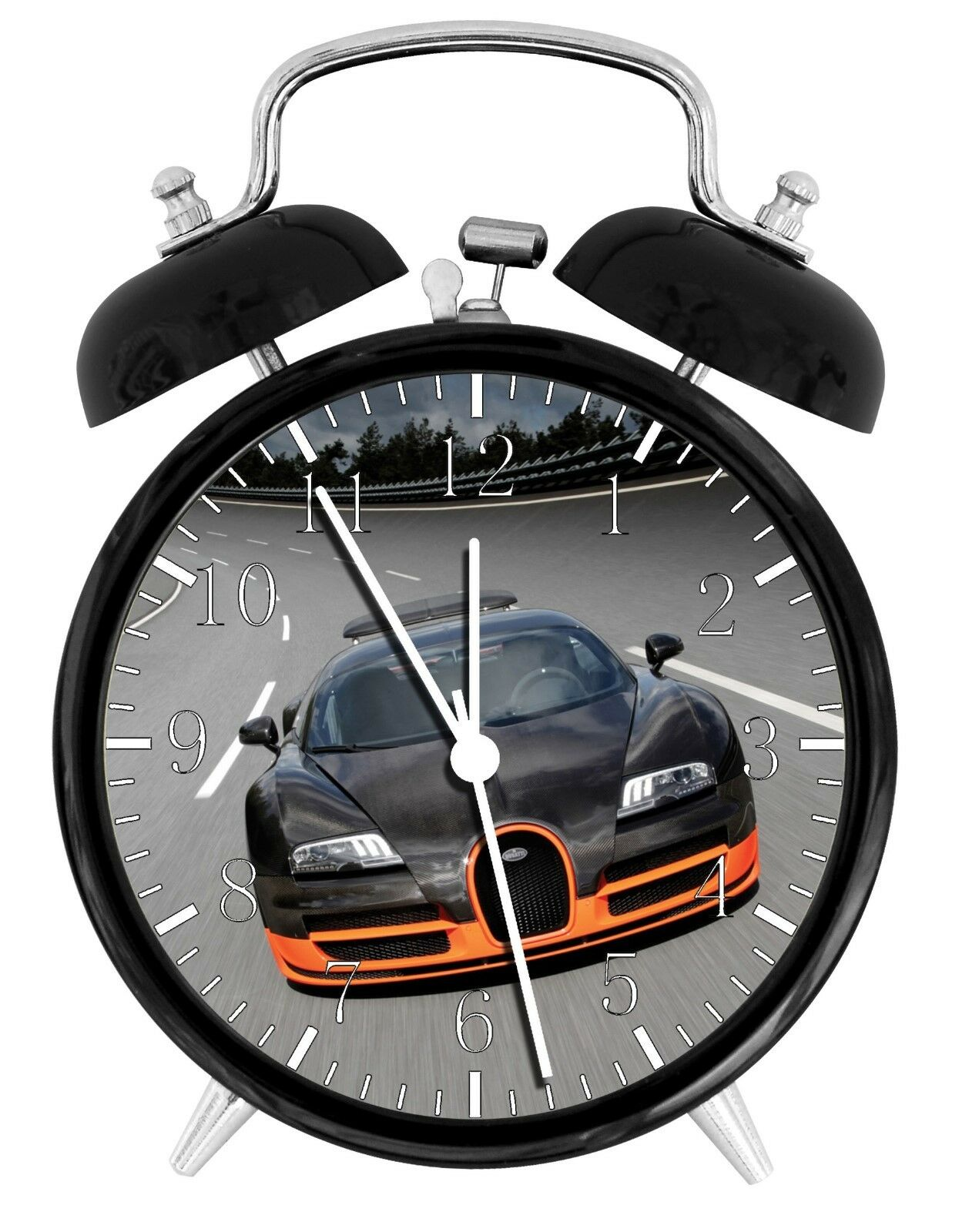 "Bugatti Veyron Alarm Desk Clock 3.75"" Room Office Decor W09 Will Be a Nice Gift"