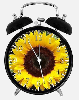 "Sun Flower Alarm Desk Clock 3.75"" Room Decor X26 Nice for Gifts wake up"