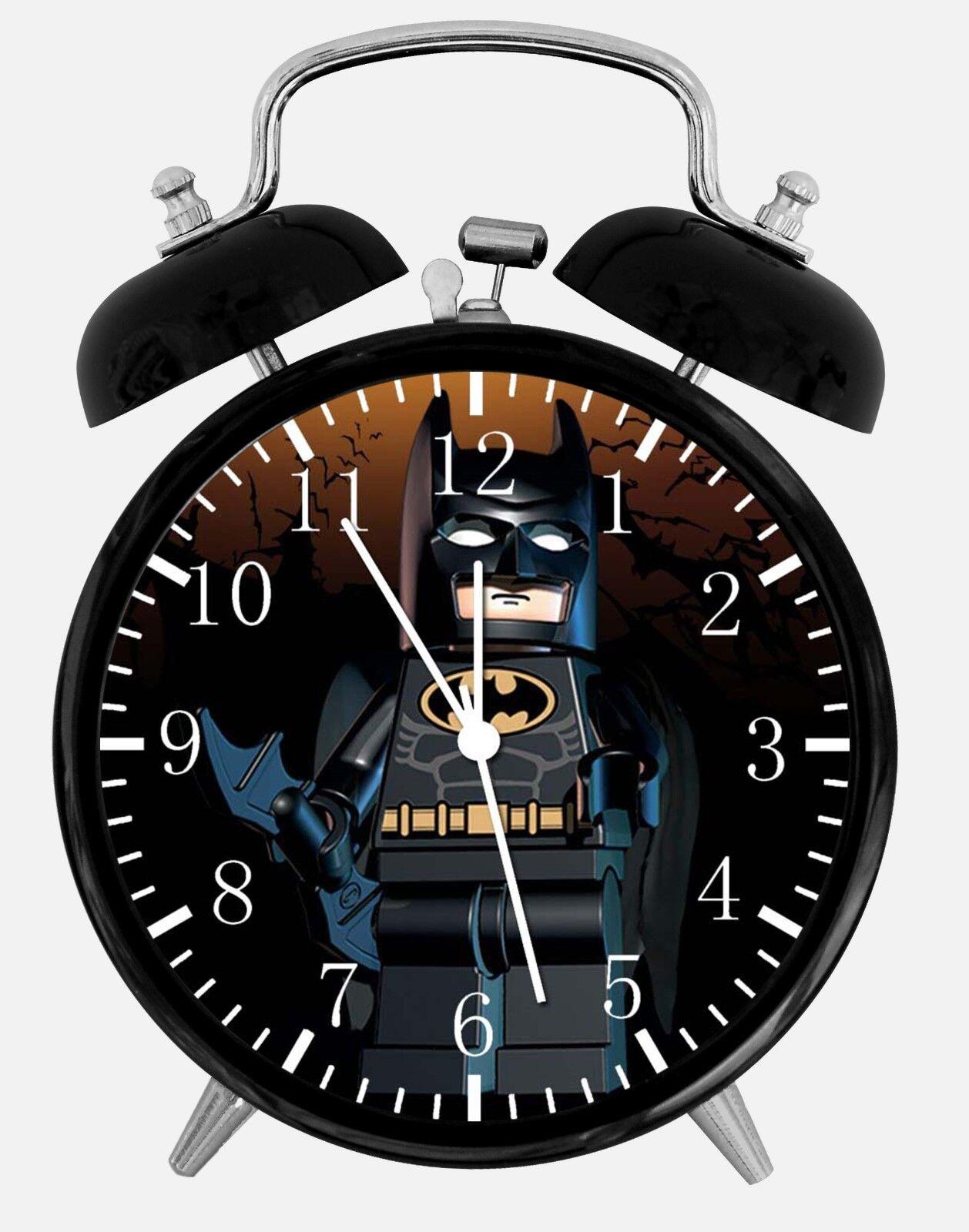 "Lego Batman Alarm Desk Clock 3.75"" Home or Office Decor W243 Nice For Gift"